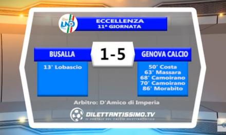 VIDEO – Eccellenza: Il servizio di Busalla-Genova Calcio 1-5