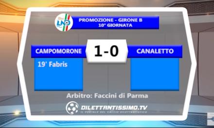 VIDEO – Promo B: Il servizio di Campomorone-Canaletto 1-0