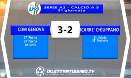 VIDEO – FUTSAL SERIE A2: Il servizio di CDM Genova – Carré Chiuppano 3-2