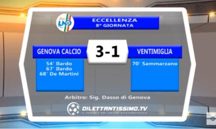 VIDEO – ECCELLENZA: Il servizio di Genova Calcio-Ventimiglia 3-1
