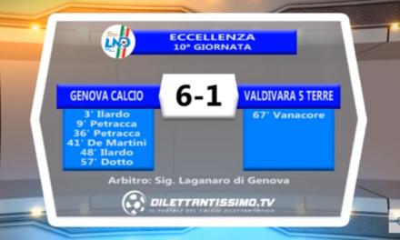 VIDEO – Eccellenza: Il servizio di Genova Calcio-Valdivara 6-1