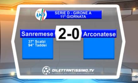 VIDEO – Serie D: Il servizio di Sanremese-Arconatese 2-0