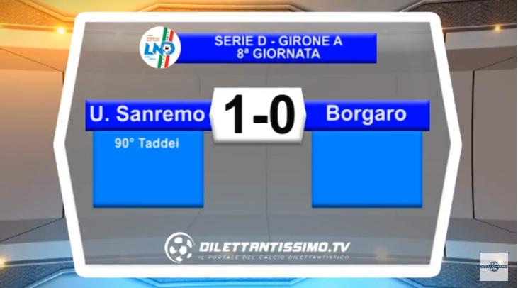 VIDEO – SERIE D: Il servizio di Sanremese-Borgaro Nobis 1-0