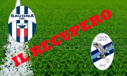 DIRETTA LIVE – Serie D: Le formazioni e i marcatori del recupero Savona-Lecco