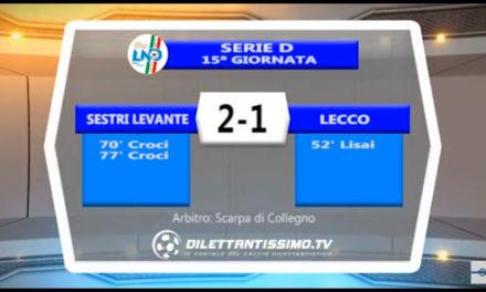 VIDEO: SESTRI LEVANTE-LECCO 2-1. La  grande vittoria dei corsari