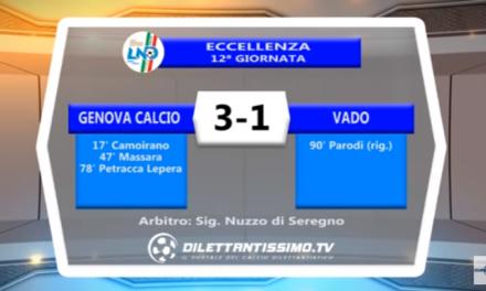 VIDEO – Eccellenza: Il servizio di Genova Calcio-Vado 3-1