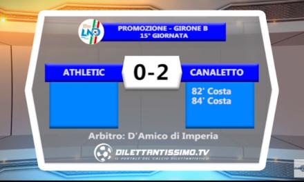 VIDEO – Promozione B: Il servizio di Athletic Club-Canaletto 0-2