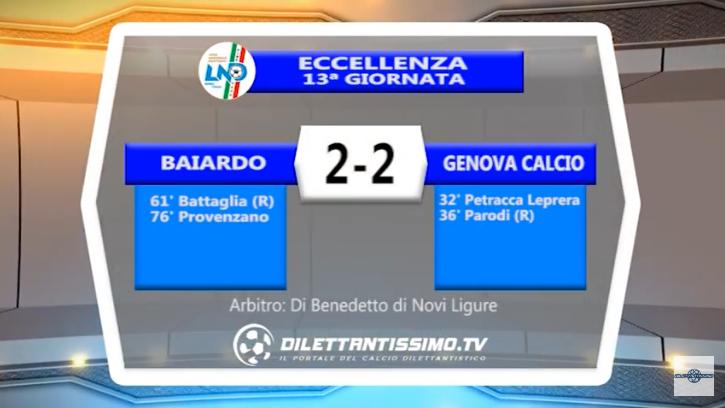VIDEO – Eccellenza: Il servizio di Baiardo-Genova Calcio 2-2