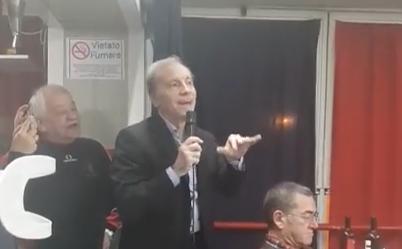 VIDEO – Pinuccio Brenzini alla cena di Natale del Little Club: «Con questi stemmi qua…»