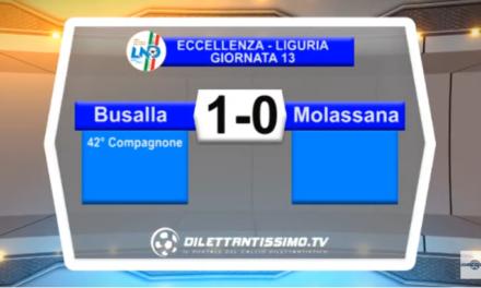 VIDEO – Eccellenza: Il servizio di Busalla-Molassana 1-0