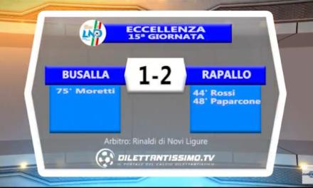 VIDEO – Eccellenza: Il servizio di Busalla-Rapallo 1-2