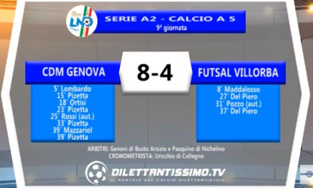 VIDEO – Futsal Serie A2: Il servizio di Cdm Genova-Futsal Villorba 8-4