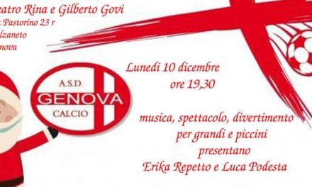 Genova Calcio, il 10 dicembre la festa di Natale al Teatro Govi