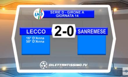 VIDEO – Serie D: Il servizio di Lecco-Sanremese 2-0