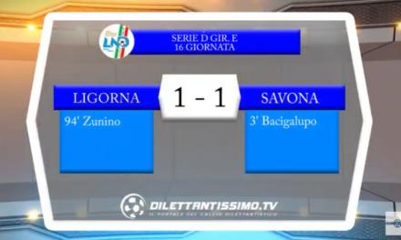 VIDEO – Serie D: Il servizio di Ligorna-Savona 1-1