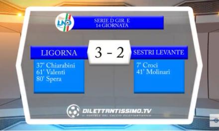 VIDEO – Serie D: Il servizio di Ligorna-Sestri Levante 3-2