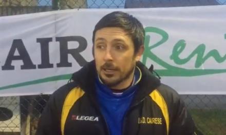 VIDEO. Matteo Solari: «Oggi la Cairese ha messo in campo una grande mentalità»
