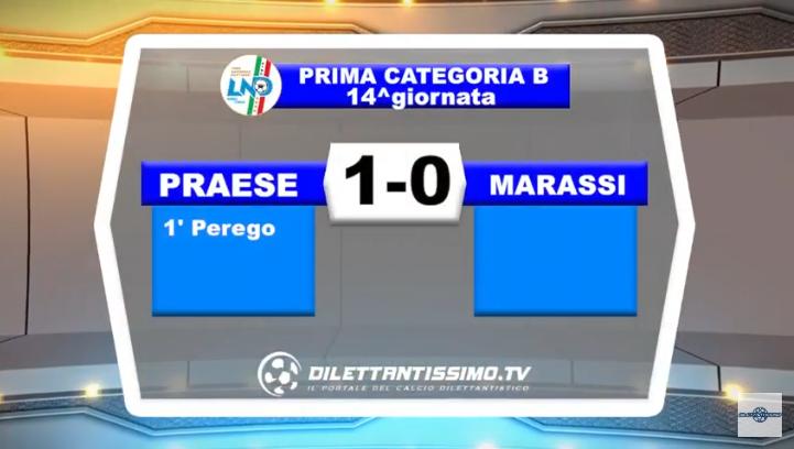 VIDEO – Prima Categoria B: Il servizio di Praese-Marassi 1-0
