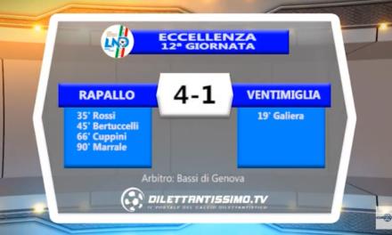 VIDEO – Eccellenza: Il servizio (e la sintesi) di Rapallo-Ventimiglia 4-1