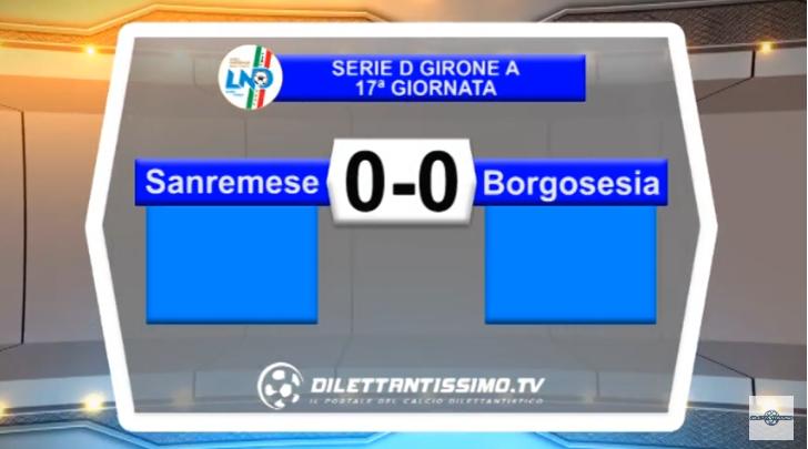 VIDEO – Serie D: Il servizio di Sanremese-Borgosesia 0-0