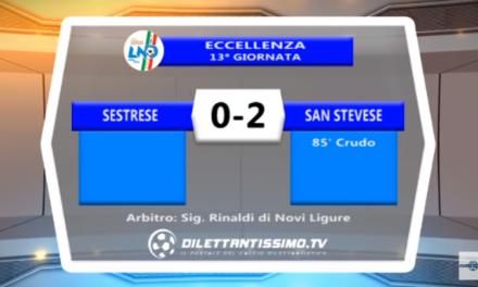 VIDEO – Promozione A: Il servizio di Sestrese-San Stevese 0-1
