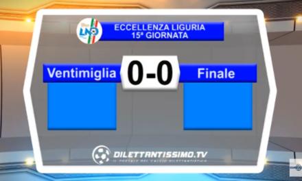VIDEO – Eccellenza: Il servizio di Ventimiglia-Finale 0-0