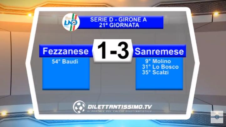VIDEO – Serie D: Il servizio di Fezzanese-Sanremese 1-3