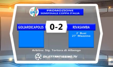 VIDEO – Coppa Italia di Promozione: Il servizio di Goliardica-Rivasamba 0-2