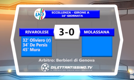 VIDEO – Eccellenza: Il servizio di Rivarolese-Molassana 3-0