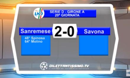 VIDEO – Serie D: Il servizio di Sanremese-Savona 2-0