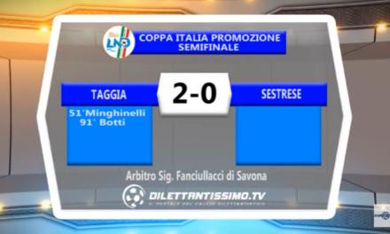 VIDEO – Coppa Italia Promozione. Il servizio di Taggia-Sestrese 2-0