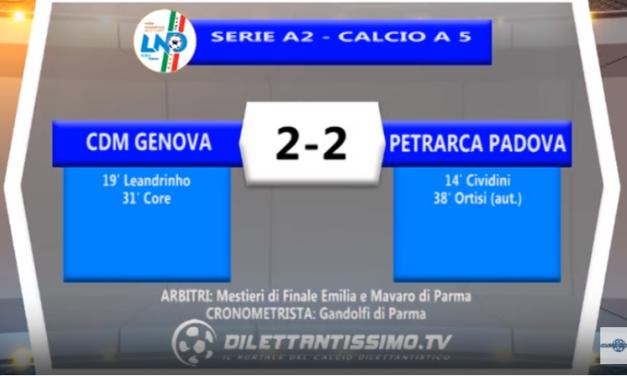 VIDEO – Futsal Serie A2: Il servizio di CDM Genova-Petrarca Padova 2-2