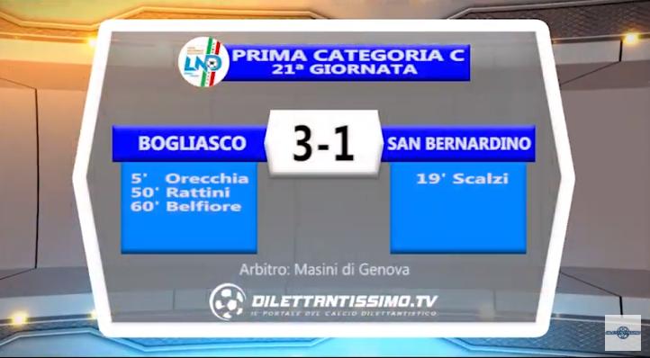 VIDEO – Prima C: Il servizio di Bogliasco-San Bernardino 3-1