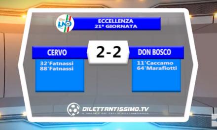 VIDEO – Prima A: Il servizio di Cervo-Don Bosco Vallecrosia 2-2