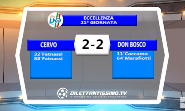 VIDEO – Prima A: Il servizio di Cervo-Don Bosco Vallecrosia 2-2