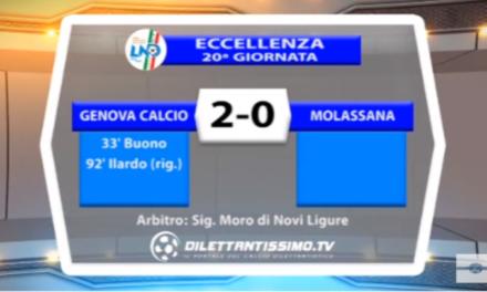 VIDEO – Eccellenza: Il servizio di Genova Calcio-Molassana 2-0