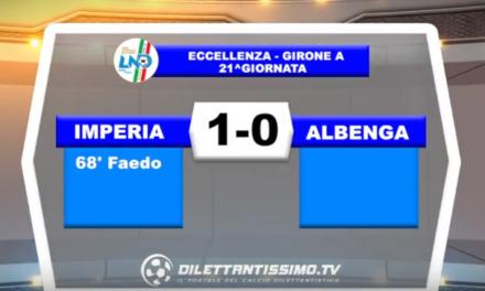 VIDEO – Eccellenza: Il servizio di Imperia-Albenga 1-0