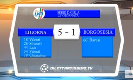 VIDEO – Serie D: Il servizio di Ligorna-Borgosesia 5-1