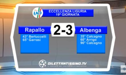 VIDEO – Eccellenza: Il servizio di Rapallo-Albenga 2-3