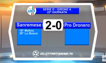 VIDEO – Serie D: Il servizio di Sanremese-Pro Dronero 2-0