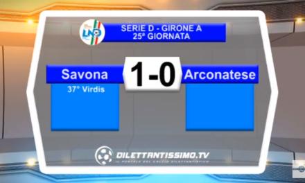 VIDEO – Serie D: Il servizio di Savona-Arconatese 1-0