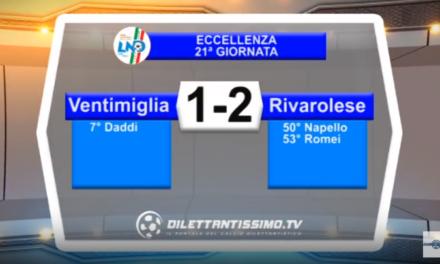 VIDEO – Eccellenza: Il servizio di Ventimiglia-Rivarolese 1-2