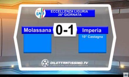 Video: MOLASSANA – IMPERIA 0-1. Highlights e intervista