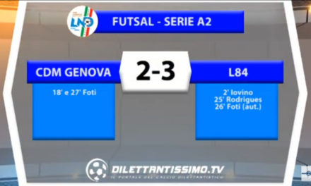 VIDEO: CDM-L84    2-3 Serie A2 Calcio a 5