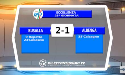 VIDEO – Eccellenza: Il servizio di Busalla-Albenga 2-1