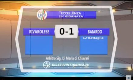 Video: RIVAROLESE – BAIARDO 0-1
