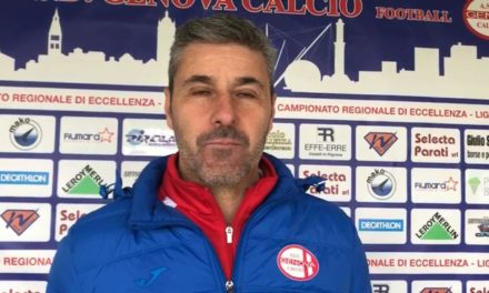 Intervista post partita a Mister Balboni Genova calcio