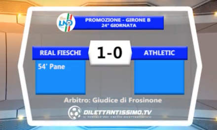 VIDEO – PROMO B: il servizio di REAL FIESCHI-ATHLETIC CLUB 1-0