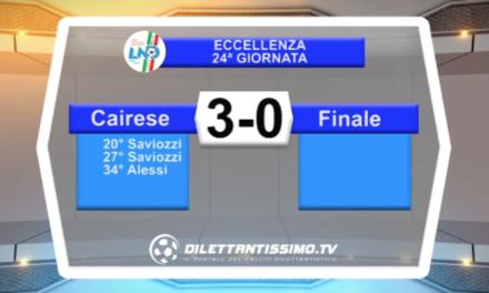 VIDEO – Eccellenza: il servizio di Cairese-Finale 3-0