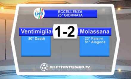 VIDEO – VENTIMIGLIA-MOLASSANA 1-2
